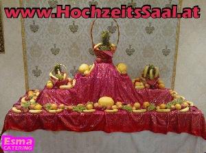 Hochzeitssaal Wien Catering Obsttisch voce fruits dekoration